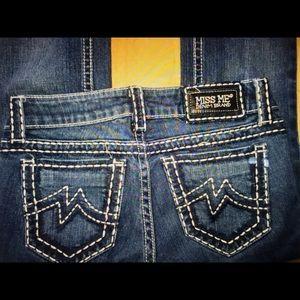 Denim - MISS ME SUNNY 🌞 WHITE Stitched Jeans sz 27